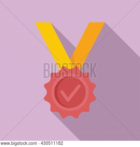 Reliability Medal Icon Flat Vector. Back Guarantee. Best Money