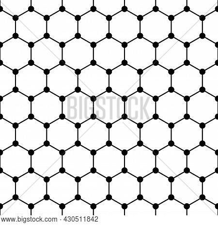 Graphene Structure, Seamless Tile, Schematic Molecular Structure Of Graphene, An Allotrope Of Carbon