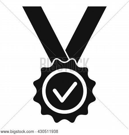 Reliability Medal Icon Simple Vector. Back Guarantee. Best Money