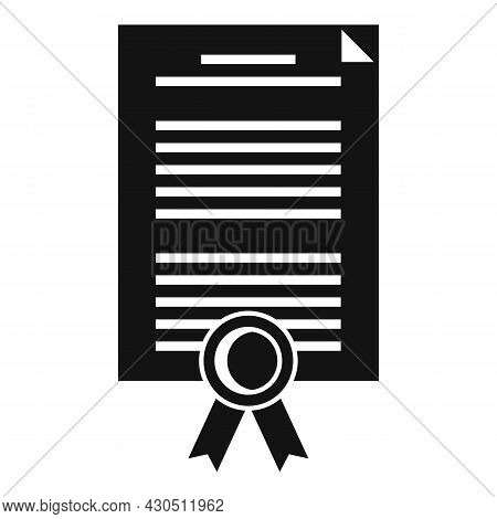 Reliability Certificate Icon Simple Vector. Phishing Compliance. Iso Audit