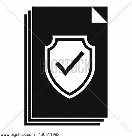 Reliability Documents Icon Simple Vector. Business Document. Website Information