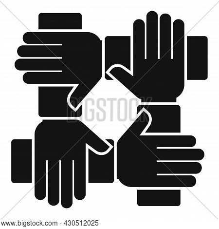 Reliability Group Icon Simple Vector. Social Hand. Business Team