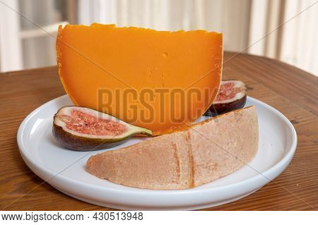 Cheese Collection, French Cheese Mimolette Made From Cow Milk
