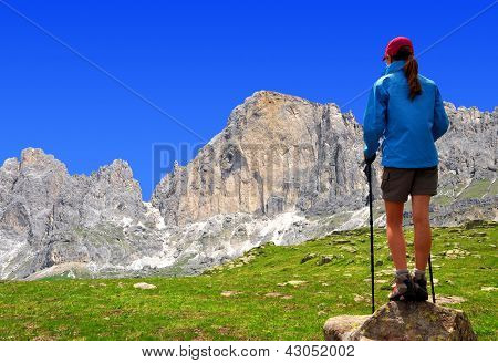 Girl in the Italy Alps