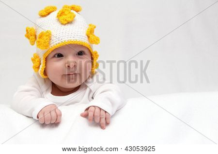 Baby With Knitted Hat