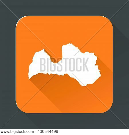 Highly Detailed Latvia Map With Borders Isolated On Background. Simple Icon