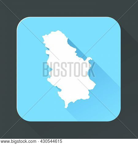 Highly Detailed Serbia Map With Borders Isolated On Background. Flat Style