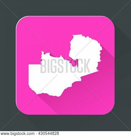 Highly Detailed Zambia Map With Borders Isolated On Background. Flat Style