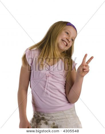 Girl Peace Sign