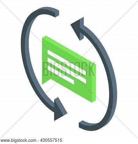Code Develop Chat Icon Isometric Vector. Mobile Web. Phone Development