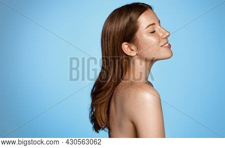 Body Care And Female Beauty. Skin Care. Closeup Woman Body With Cosmetic And Clean, Fresh Skin After