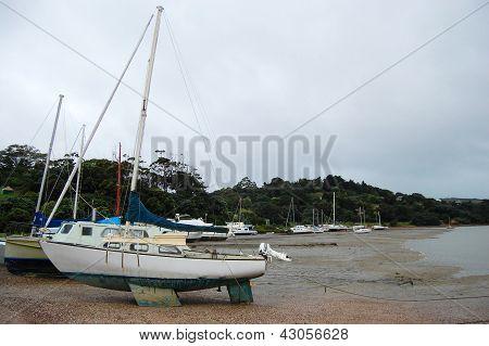 Sailboat At Coast