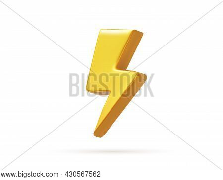 Vector Realistic Bolt Lighting Thunder Emblem Icon