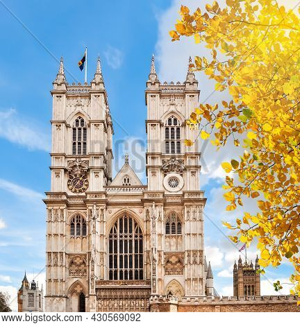 Westminster Abbey In Autumn, London, United Kingdom