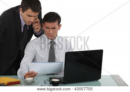 Perplexed business professionals poster