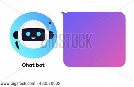 Chat Bot Concept Illustration For Virtual Assistant Banner, Talk Bubble Speech, Digital Marketing, C