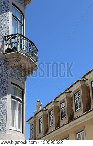View Of A Street In The City Of Lisbon, Portugal