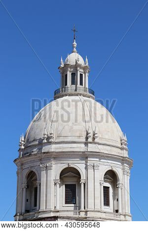 Cupola Of The National Pantheon In The City Of Lisbon, Portugal