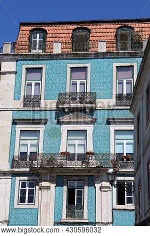 View Of A Traditional Building In Lisbon, Portugal
