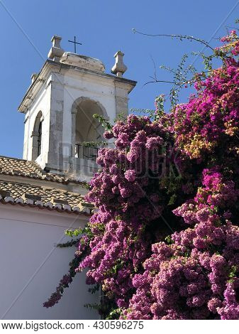 Detail Of A Church In The City Of Lisbon