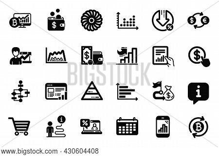 Vector Set Of Finance Icons Related To Document, Success Business And Pyramid Chart Icons. Block Dia