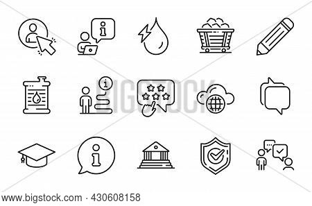 Education Icons Set. Included Icon As Consulting Business, User, Messenger Signs. Cloud Computing, C