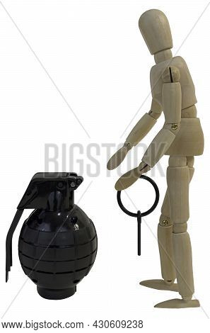 Pulling The Pin From A Grenade In Preparation To Throw It