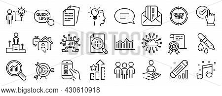 Set Of Education Icons, Such As Money Diagram, Work Home, Certificate Icons. Cloud Network, Business
