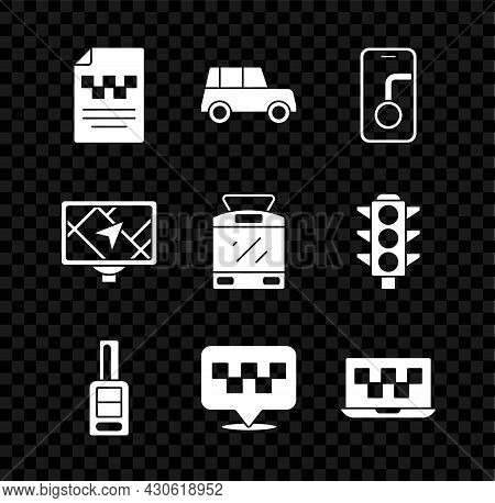 Set Taxi Driver License, Car, City Map Navigation, Key With Remote, Location Taxi, Laptop Call Servi