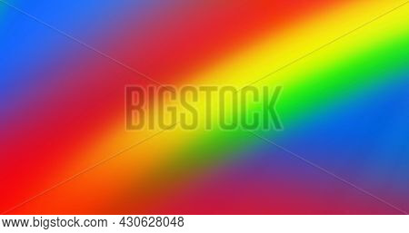 Picture of lgbtq symbol, rainbow background. lgbtq pride and equality celebration concept digitally generated .