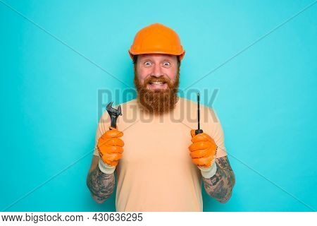 Incompetent Worker Is Unsure And Confused About His Work