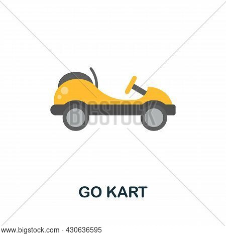 Go Kart Icon. Flat Sign Element From Extreme Sport Collection. Creative Go Kart Icon For Web Design,