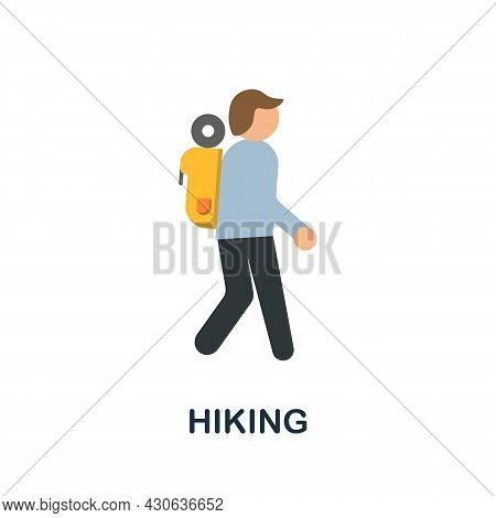 Hiking Icon. Flat Sign Element From Extreme Sport Collection. Creative Hiking Icon For Web Design, T