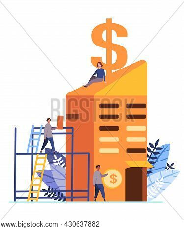 The Symbols Of Capitalism, A Woman Stands On Building An Economic System In Which Capital Goods Are