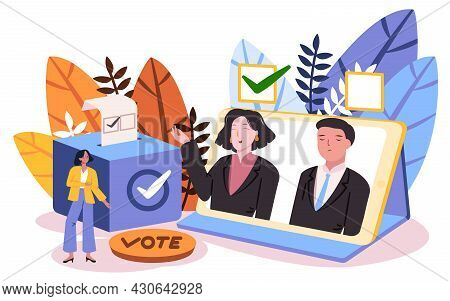 Woman Give Vote To Choose Her Candidate By Online Vote This Method Suitable In Pandemic Situation In
