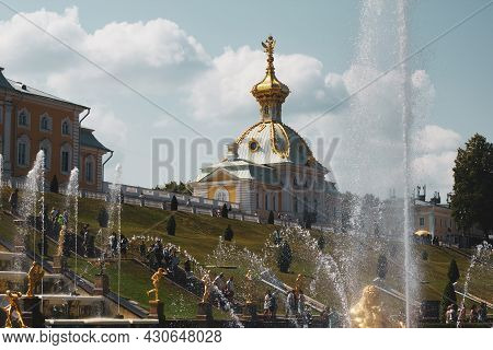 Saint-petersburg, Russia, July 2021: Church Of The Holy Apostles Peter And Paul In The Church Buildi