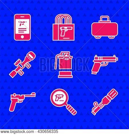 Set Hand Smoke Grenade, Pistol Or Gun Search, Anti-tank Hand, Mauser, Sniper Optical Sight, Weapon C