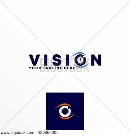 Letter Vision Logo Vector Stock. Sore Eyes Abstract Design Concept. Can Be Used As A Symbol Related