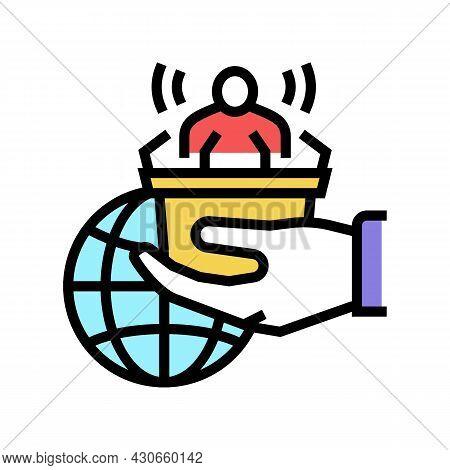 Democracy Social Problem Color Icon Vector. Democracy Social Problem Sign. Isolated Symbol Illustrat