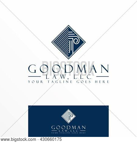 Pillar Or Column Free Logo Vector Stock. Line Abstract Design Concept. Can Be Used As A Symbol Relat