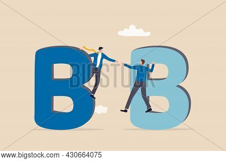 B2b Business To Business Commerce, Enterprise Deal Between Corporate, Supply Chain Or Company Buy, S