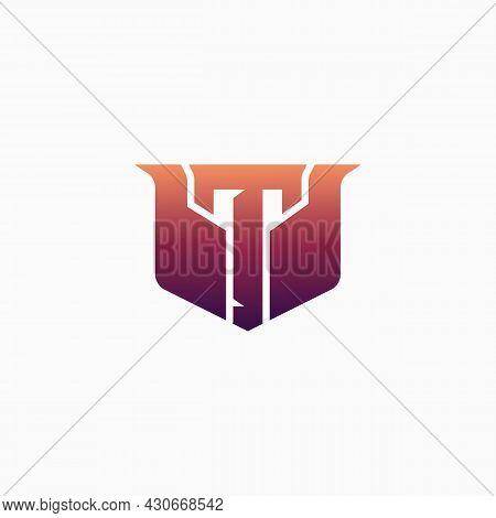 Esport Logo Letter T With Luxury Design Perfect For Gamer Brand, Squad, Etc.. E-sport Letter Logo De