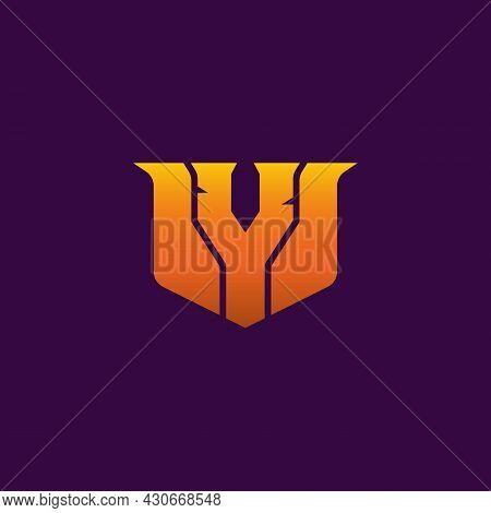 Initial Y Gaming Esport Logo Design Modern Template Isolated On Black Background. E-sport Letter Log