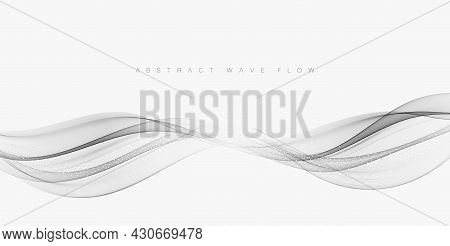 Gray Technology Background.abstract Background With Gray Waves.