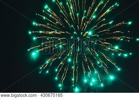 Fireworks lighting up the sky on New Years Eve