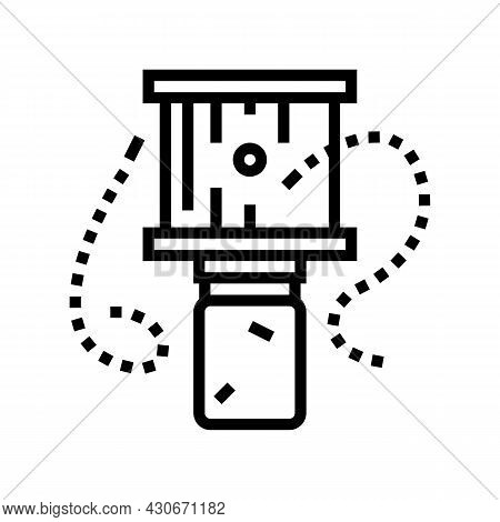 Bee Trap Beekeeping Line Icon Vector. Bee Trap Beekeeping Sign. Isolated Contour Symbol Black Illust