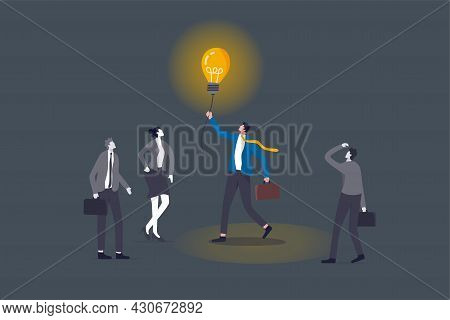 Brighten Up Business, Bright Light To Guide Career Path, Creativity For Solution, Lit Up To See Way