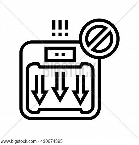 Unexplained Weight Loss Hepatitis Line Icon Vector. Unexplained Weight Loss Hepatitis Sign. Isolated