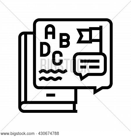 Cultural History Line Icon Vector. Cultural History Sign. Isolated Contour Symbol Black Illustration