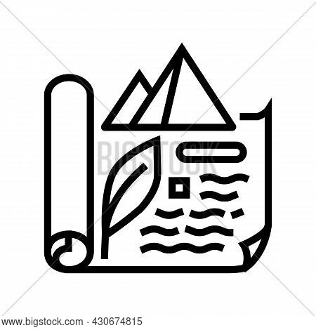 Ancient Egypt History Line Icon Vector. Ancient Egypt History Sign. Isolated Contour Symbol Black Il